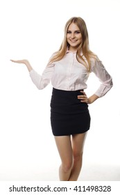 Business woman smile in white  background