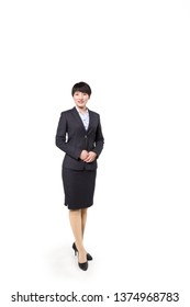 Business woman stood before white backgrounds