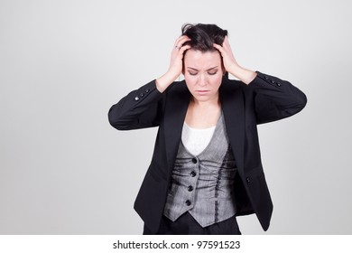 business woman stressed