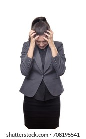 business woman stressed and finding work hard