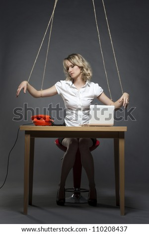 Woman Tied To Table