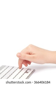 Business woman typing on keyboard. Shallow doff.