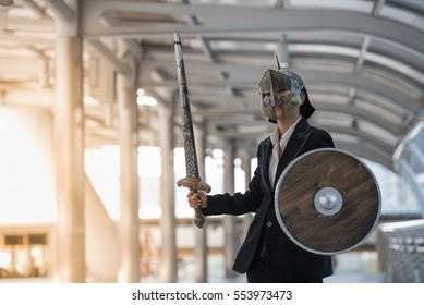 Business Woman Warrior