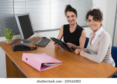 Business woman at work
