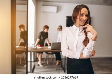 Business women working in ofice