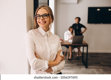 Business women working in ofice