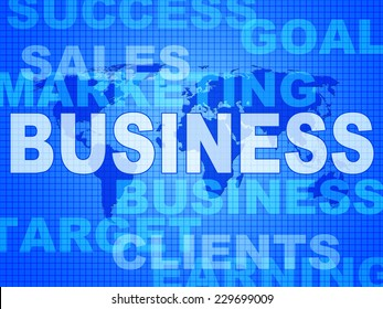 Business Words Meaning Selling Biz And Commercial