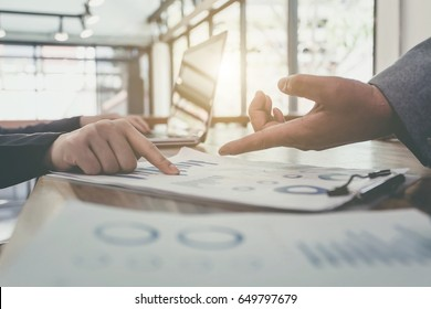 Business Working Report Concept. Soft focus