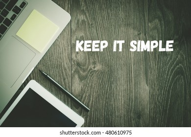 BUSINESS WORKPLACE TECHNOLOGY OFFICE KEEP IT SIMPLE CONCEPT