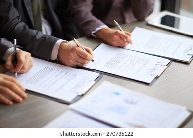 Business young people in the job interview, signed an employment contract with boss in the office