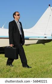 businessman arrival