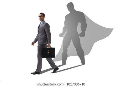 Businessman with aspiration of becoming superhero