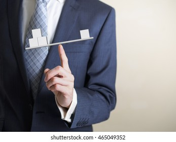businessman with balance concept