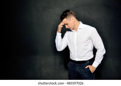 Businessman Black end white