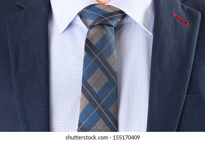 businessman with blue shirt and necktie