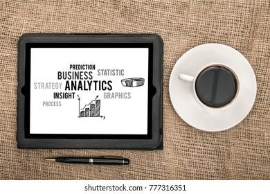 Businessman book analytics symbol