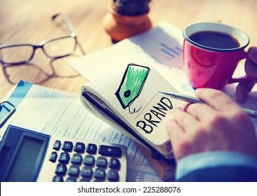 Businessman Brand Single Word Concept