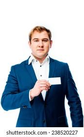 businessman in a business suit