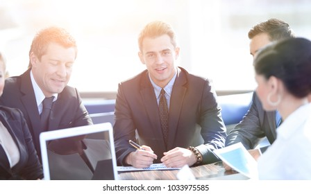 businessman and business team working with documents