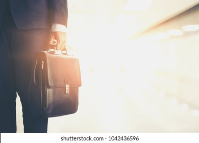 businessman carry a brief case,business and opportunity concept
