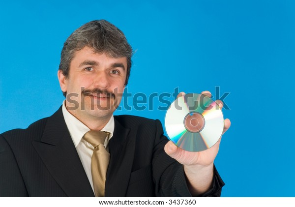 businessman with cd-r