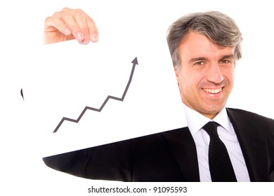 businessman with chart