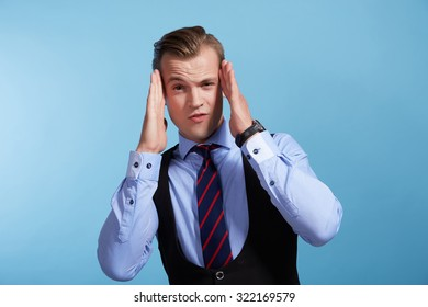 businessman cheerful emotional
