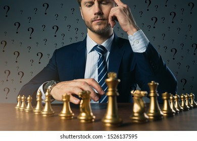 businessman with chess figure setup on dark background . Leadership and strategy ideas concept for success achievement . business organization concept
