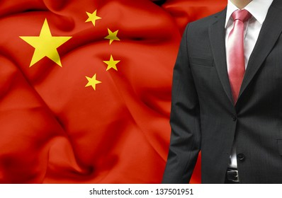 Businessman from China conceptual image