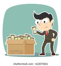 businessman choosing hourglass