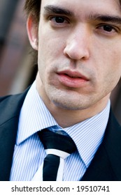 businessman closeup portrait