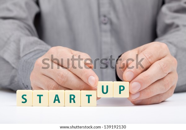 Businessman complete his startup business. Investor accelerate start-up project concept.