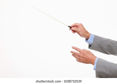 Businessman conducting concept