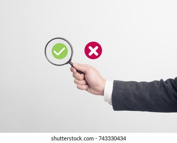 Businessman confirm project .Idea business on white background.he  search something.
