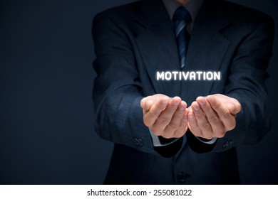 Businessman, consultant or human resources officer give you a motivation.