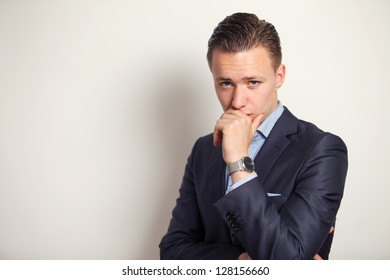 Businessman contemplating ideas