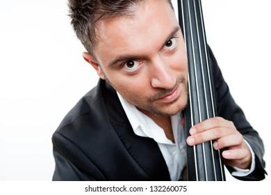 Businessman And Contra bass Neck.