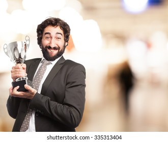 businessman with cup