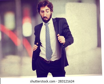 businessman dancing