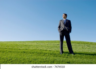 Businessman in dark suit