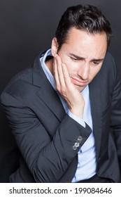 Businessman with depression