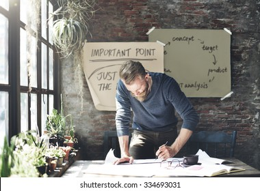 Businessman Determine Ideas Writing Working Concept