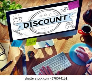 Businessman Discount Sale Badge Banner Concept