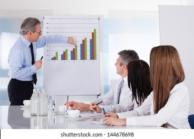 Businessman Discussing New Project With Colleagues In Office