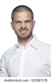 businessman doing angry face