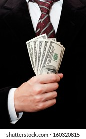 Businessman with dollars