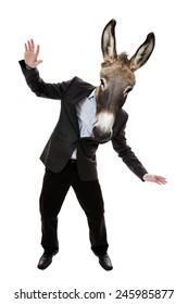 Businessman with donkey head