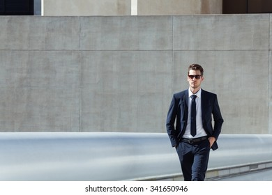 Businessman in downtown