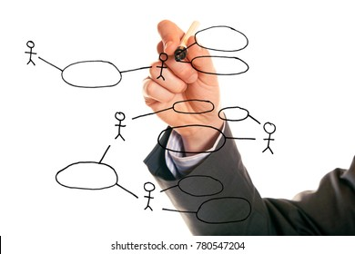 Businessman Drawing A Uml Use Case Diagram