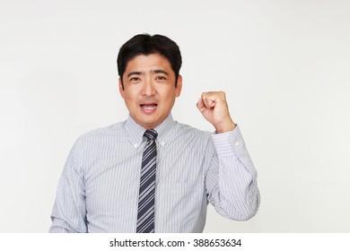 Businessman enjoying success